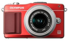 Olympus EPM2 Mirrorless Digital Camera with 1442mm Lens Red Old Model >>> For more information, visit image link.