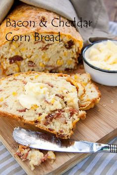 bowl, baking with kids recipes, butter, food, breads, corn bread, bacon cornbread, yummi, chili