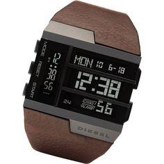 Men's Watch / Digital / Leather Strap
