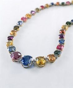 Love all the assorted colors in this piece!!  Jewelry of the Duchess of Windsor