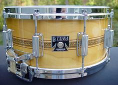 Tama Mastercraft Artwood 6 5 x 14 Snare Drum AW456 Super Maple with Inlay