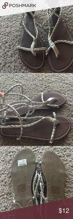 Braided wrap glad sandals Wet seal size 6 new Wet Seal Shoes Sandals