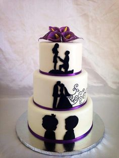Anniversary cake proposal, weeding, birth of their twins