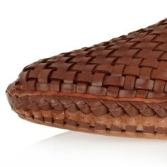 Brown Woven Slip On Shoes Brogues Loafers Shoes