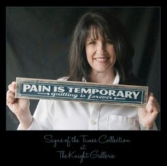 Pain is Temporary Plaque by TheKnightGallerie on Etsy