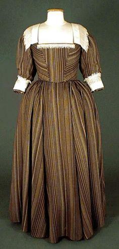 Striped Dress (front) under Louis XIII era, 1610-1660