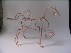 Image detail for -LynFeudner: New wire sketches for The Ramona Open Studios Tour Copper Wire Crafts, Metal Crafts, Copper Art, Wire Art Sculpture, Horse Sculpture, Metal Yard Art, Metal Art, Wire Wrapped Jewelry, Wire Jewelry