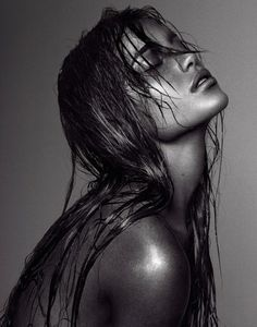model | wet hair | beautiful | shoot | editorial | amazing | stunning | black & white | photography | www.republicofyou.com.au