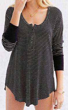 striped thermal henley shirt  http://rstyle.me/n/udskspdpe
