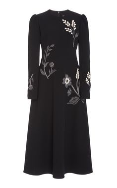 Floral-Embroidered Midi Dress by Lela Rose Formal Dresses For Weddings, Dressy Dresses, Event Dresses, Lela Rose, Coat Dress, Dress Me Up, A Line Skirts, Spring Fashion, Outfits