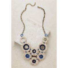 Anthropologie Vespri Bib Necklace (3.805 RUB) ❤ liked on Polyvore featuring jewelry, necklaces, blue, blue bib necklace, anthropologie necklace, blue jewelry, anthropologie jewelry and blue necklace