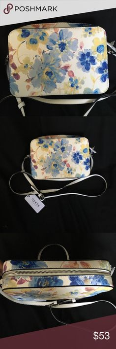 Guess cross body bag women floral  trendy stylish Guess cross body bag. Elegant trendy stylish floral bag. STUNNING PIECE HIGH QUALITY GREAT PRICE!! Guess Bags Crossbody Bags