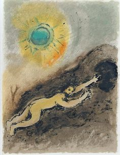 Sisyphus by Marc Chagall. Marc Chagall, Artist Chagall, Religion, Fauvism, Mystique, Jewish Art, Magritte, Caravaggio, French Artists