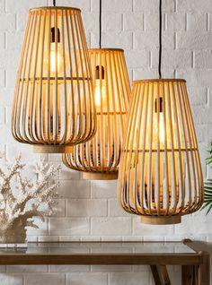 Bamboo Design, Home Lighting, Ceiling Lights, Home Decor, Decoration Home, Room Decor, Outdoor Ceiling Lights, Home Interior Design, Ceiling Fixtures