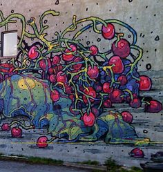 Richmond's graffitti in pink