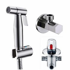 62.08$  Watch now - http://ali3px.worldwells.pw/go.php?t=32331913470 - Thermostatic Bidet Faucets Mixers Taps + Brass Hand Held Bidet Shower Sprayer +Shower Holder + Shower Hose