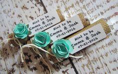 Wedding shower favor, bridal shower favors, Mint to be mints, Wedding mints, burlap paper mint green, personalized tag, Set of 35 mint rolls by BulandsCraftBoutique on Etsy https://www.etsy.com/listing/219066967/wedding-shower-favor-bridal-shower