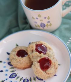 Almond Thumbprint Cookies - using almond pulp leftover from making almond milk - swap vegan butter (I like Earth Balance) for cow butter and you're set.