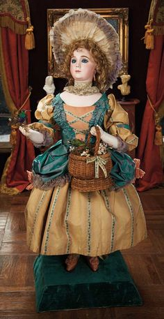 """Rare French Automaton """"Lady with Singing Birds"""" by Roullet & Decamps. Circa 1885. http://Theriaults.com"""