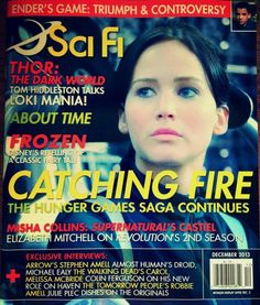 Catching Fire Cover of Sci Fi Magazine