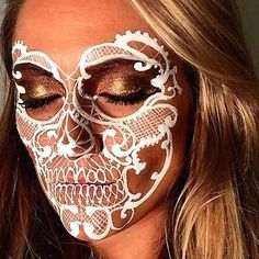 White Lace Skull⚪️ I used a basic set of products for this makeup: MAC…                                                                                                                                                                                 More