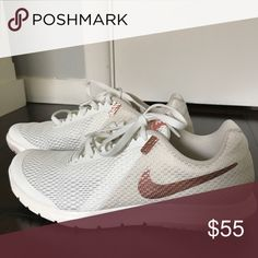 the best attitude fc9a0 3a63c Brand new Nike women s cream rose gold, sz Brand new, never worn women s Nike  Flex experience running shoes, size Cream and rose gold, super cute for ...