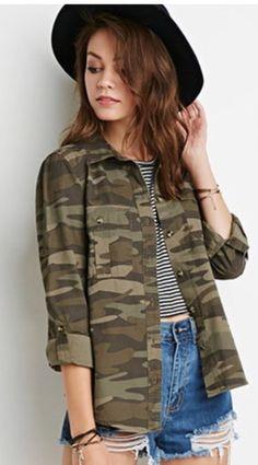 460e809d Camouflage #jacket Camuflaje De Mujer, Camisas De Camuflaje, Zapallo Anco,  Chaqueta Militar