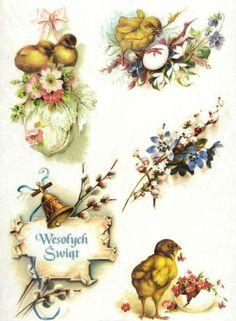 Ricepaper/Decoupage paper, Scrapbooking Sheets Vintage Easter Greetings