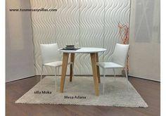 Mesa redonda extensible Adana de estilo nordico