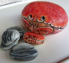 Crabs  Shells Painted Rocks