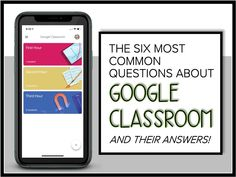 iPhone with Google Classroom sections on screen Technology Tools, Educational Technology, Cult Of Pedagogy, General Data Protection Regulation, Marketing Communications, Google Classroom, Sales And Marketing, Goods And Services, Teacher