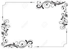 Ornamental motifs for the decor, Illustration - 6722316 Flower Background Wallpaper, Flower Backgrounds, Arabesque, Filigree Tattoo, Sign Fonts, Page Borders Design, Stamping Nail Art, Envelope Design, Borders For Paper