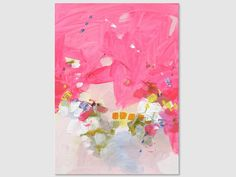 Abstract painting by Svetlansa #svetlansa #homedecor #painting #largeart #abstractpainting #pinkart #pinkpainting #wallart #artwork #white #pink #etsy #bestofetsy #homedecor