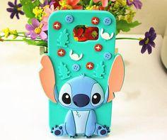 Samsung Galaxy S6 Cute Cartoon Stitch Soft Silicone Phone Case - Cartoon Galaxy S5 Cases - Galaxy S5 Cases - Galaxy S3/4/5/6 Cases
