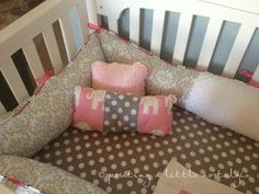 DIY Crib Bedding LOVE the rounded bumpers instead of the flat ones!!