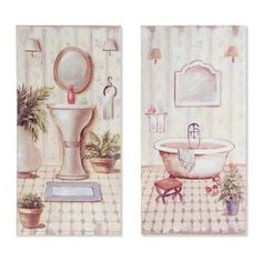 Las 48 mejores imágenes de Cuadros baños | Bathroom, Restroom ...