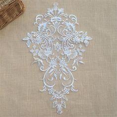 Lace Embroidery Motif Floral Lace Motif Trim Wedding by LaceNTrim Embroidery Motifs, Vintage Embroidery, Vintage Lace, Embroidery Designs, White Embroidery, Vintage Style, Motif Floral, Floral Lace, Beaded Lace