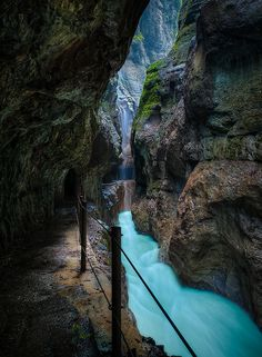 Partnach Gorge in Garmisch Partenkirchen,Bavaria, Germany