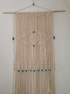 Macrame Wall Hanging by PrettyKooky on Etsy https://www.etsy.com/listing/204049284/macrame-wall-hanging