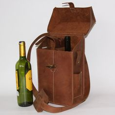 Fab.com | Two Bottle Wine Tote Brown...how practical is this...really?