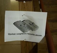 Most entertaining notes left by neighbors