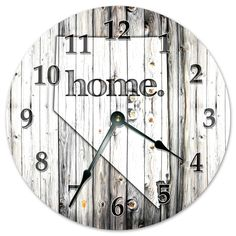 """NEVADA STATE HOME CLOCK Black and White Rustic Clock - Large 10.5"""" Wall Clock"""