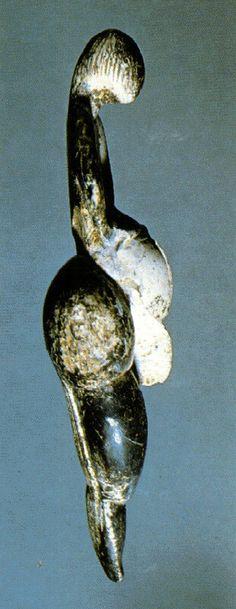 Vênus de Lespug (vista lateral), Museu do Homem, Paris.