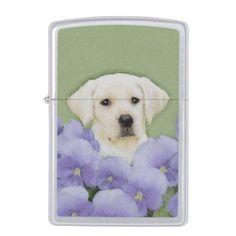 #Labrador Retriever Puppy Zippo Lighter - #labrador #retriever #puppy #labradors #dog #dogs #pet #pets