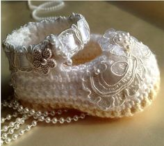 .crocheted baby bootie ❤
