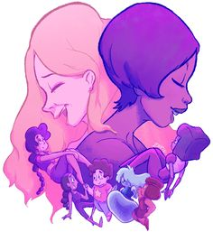 Estelle (who voices Garnet) and the lady who voices Stevonnie (I can't think of her name right now, but she does have a lovely voice)