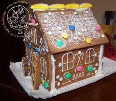 """#DIY #Food: Una bella Casetta tutta da mangiare! È di """"la scimmia cruda""""! (#Christmas #recipe)"""
