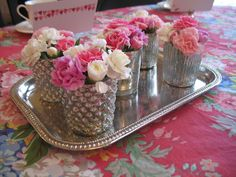 use votives as mini vases