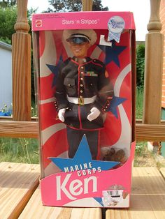 HAHAHAHA - Semper Fi! Stars 'n' Stripes Marine Corps Ken circa 1991 by studiorandom, $10.00-my future little girl will have one of these so she knows what a real hero is.