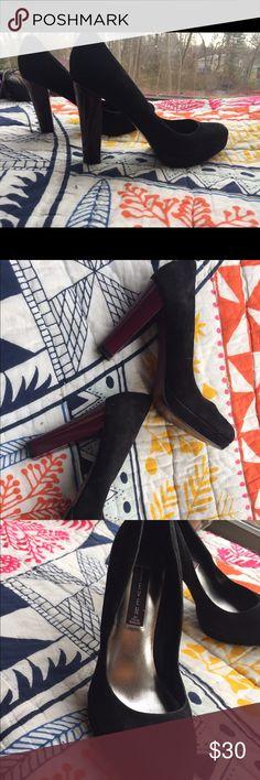 Steve Madden heels Hayla- maroon heel, good used condition! Steven by Steve Madden Shoes Heels